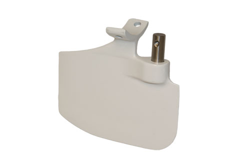Place Diverter Small White Rudder