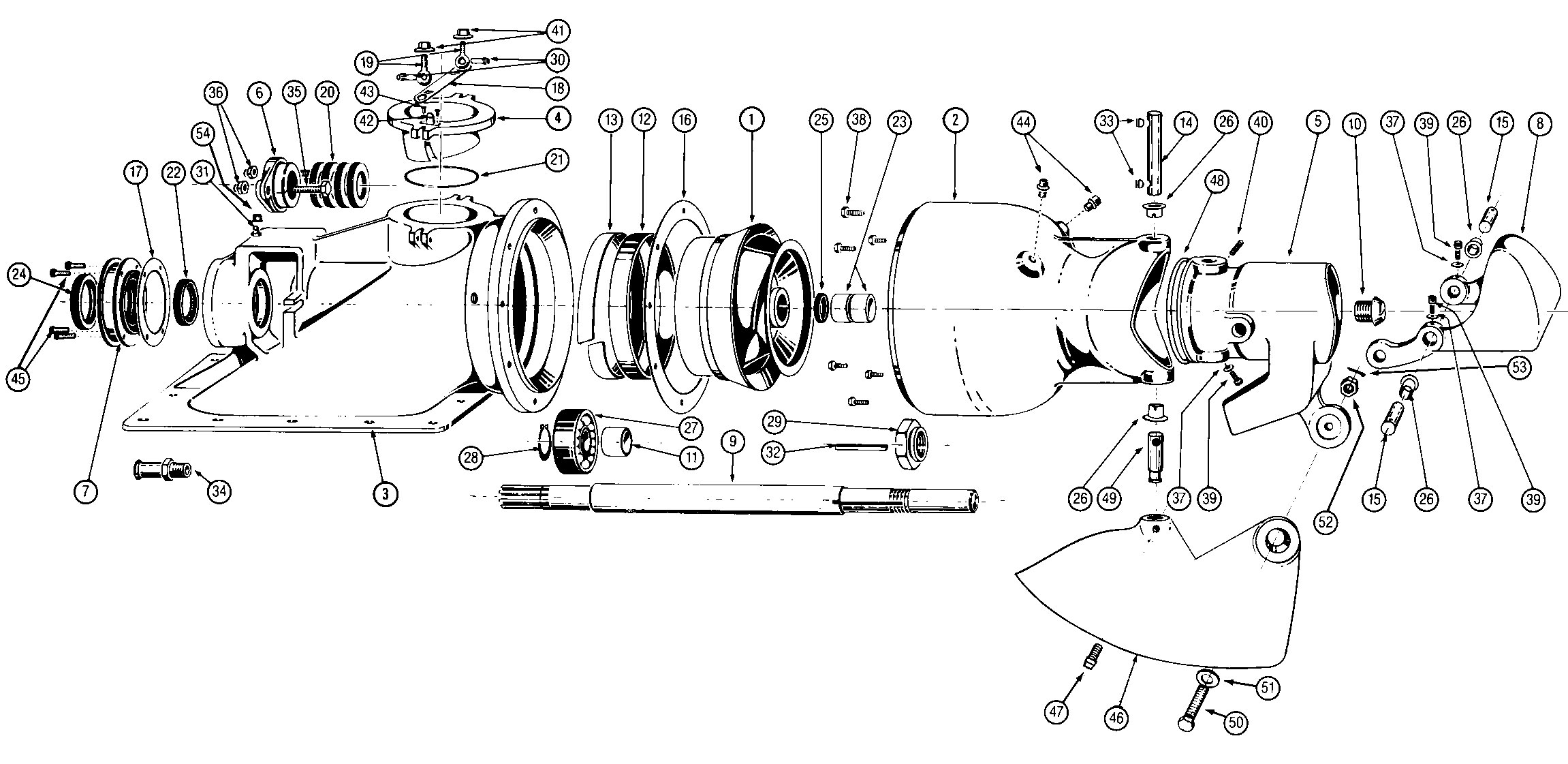 electric centrifugal pump diagram