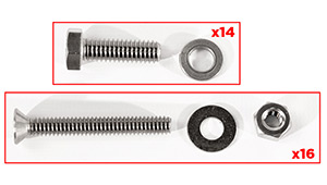 Transom Assembly Bolt Kit