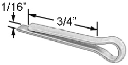 "1/16"" x 3/4"" Cotter Pin - Stainless"